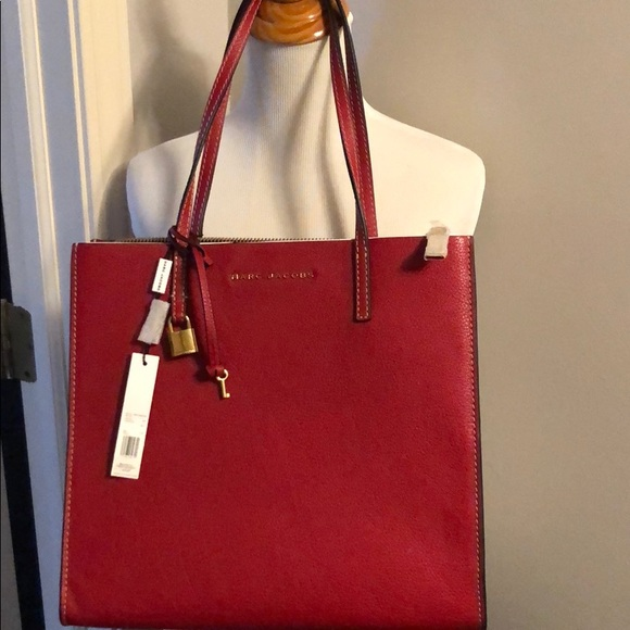 9bba59a7dde4 Marc Jacobs The Grind Shopper Leather tote bag